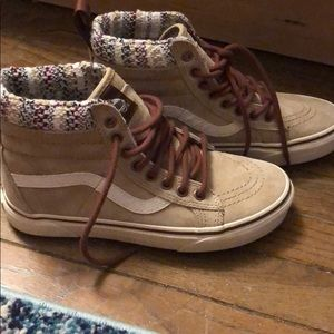 BRAND NEW Tan Suede High Top Vans